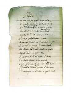 infinito manoscritto originale