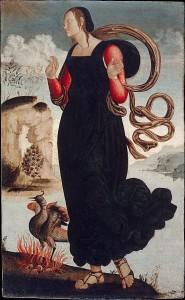 Speranza - trittico Virtù Teologali - anonimo umbro, 1500