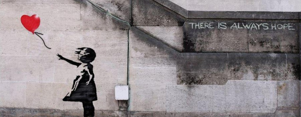 Girl with balloon - Banksy - 2002