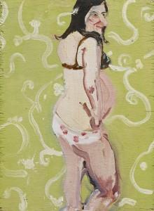 Chantal Joffe, Self   Portrait Pregnant, 2004 ©  Chantal Joffe. Courtesy  the artist and Victoria  Miro, London/Venice