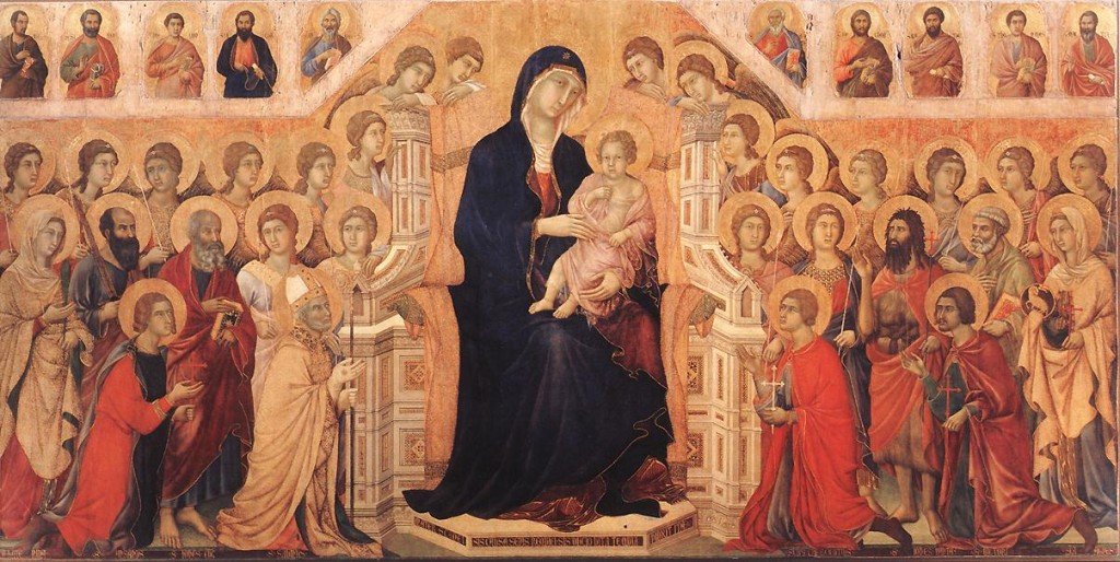Duccio di Buoninsegna, Maestà, 1308-1311, Tempera su tavola, 211 x 426 cm, Museo dell'Opera del Duomo, Siena