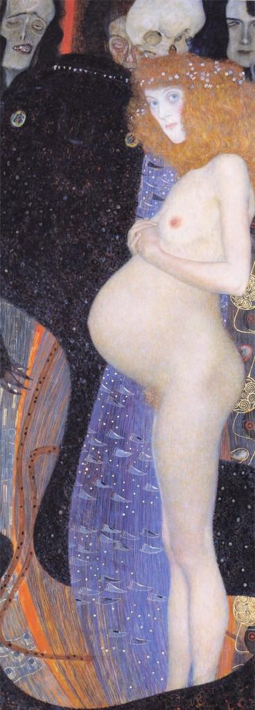 Gustave Klimt, Speranza I, 1903, Olio su tela, 181x67 cm, National Gallery, Ottawa (Canada)