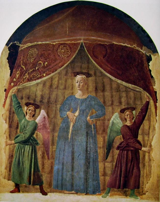 Piero della Francesca, Madonna del Parto, 1455-1460, Affresco, 260 x 203 cm, Museo della Madonna del Parto, Monterchi.