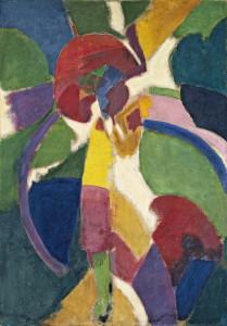 Robert Delaunay, Donna con l'ombrello, 1913, olio su tela