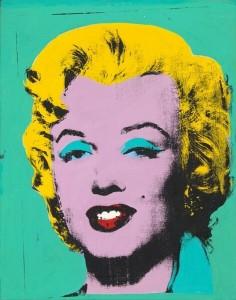 Andy Warhol, Green Marilyn, 1962, acrilico e seriografia su lino