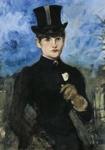 Edouard Manet, Amazzone di fronte, 1882, olio su tela, Thyssen, Madrid